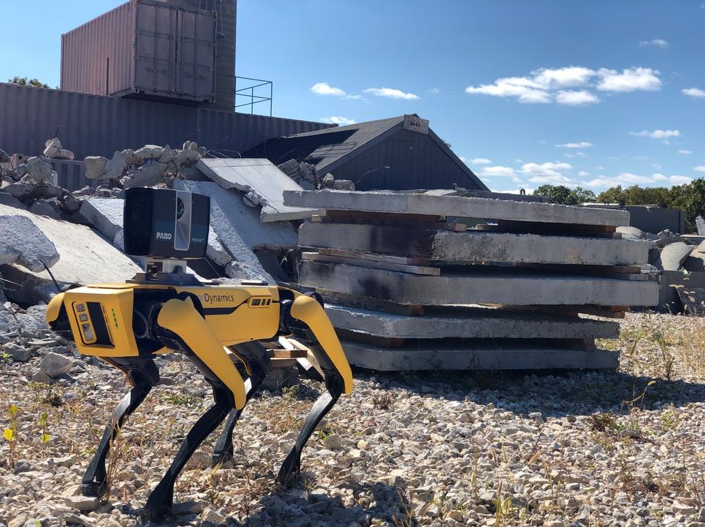 Boston Dynamics und der Spot Mini mit dem Faro 3D Laserscanner