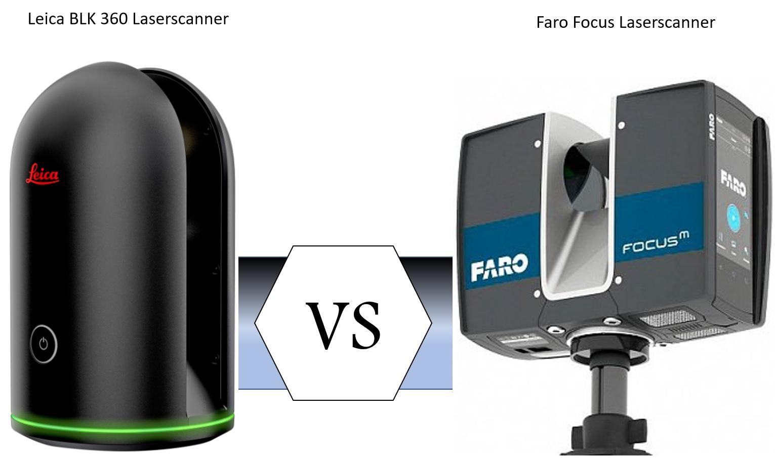 Leica BLK 360 vs. Faro Focus M70, Low Budget Laserscanner im Vergleich