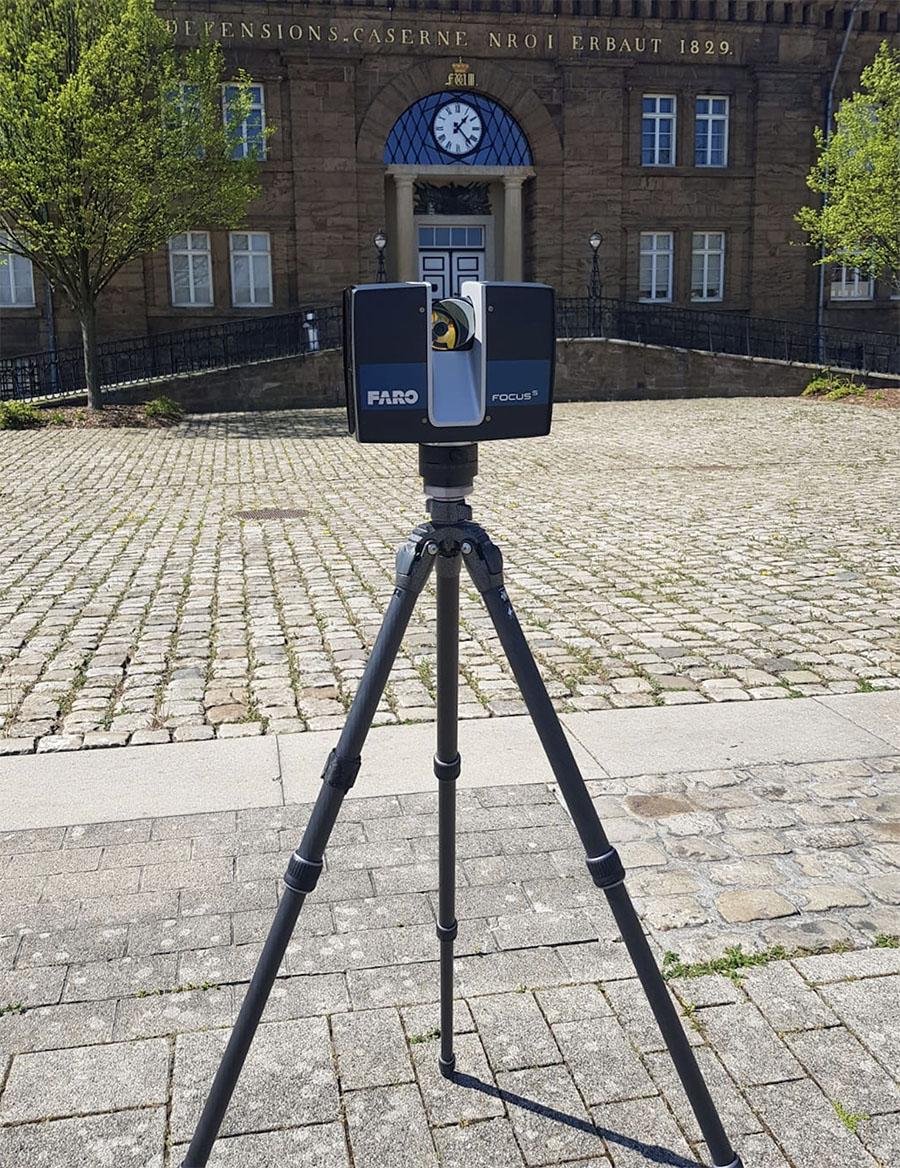 Bestandsaufnahme mithilfe eines Terrestrischen 3D Laserscanner für große Bauwerke