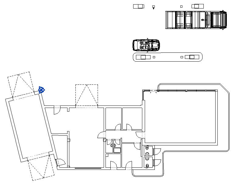 2D Plan -DWG Plan eines Bestandsgebäudes