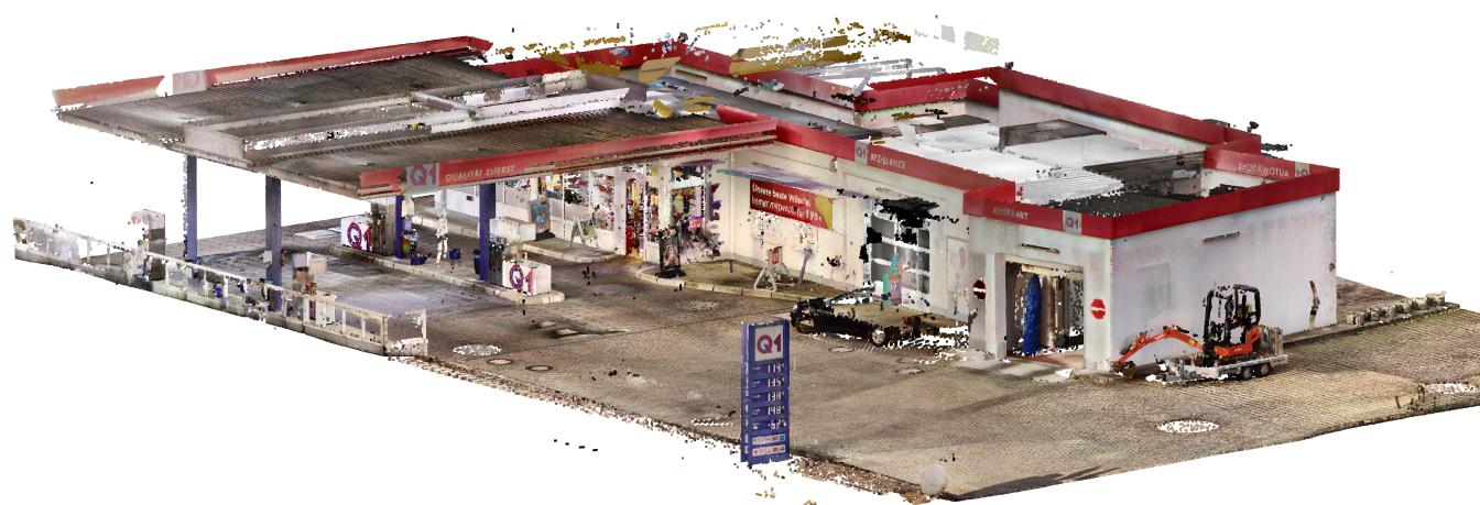 Die Tankstelle als 3D Punktwolke