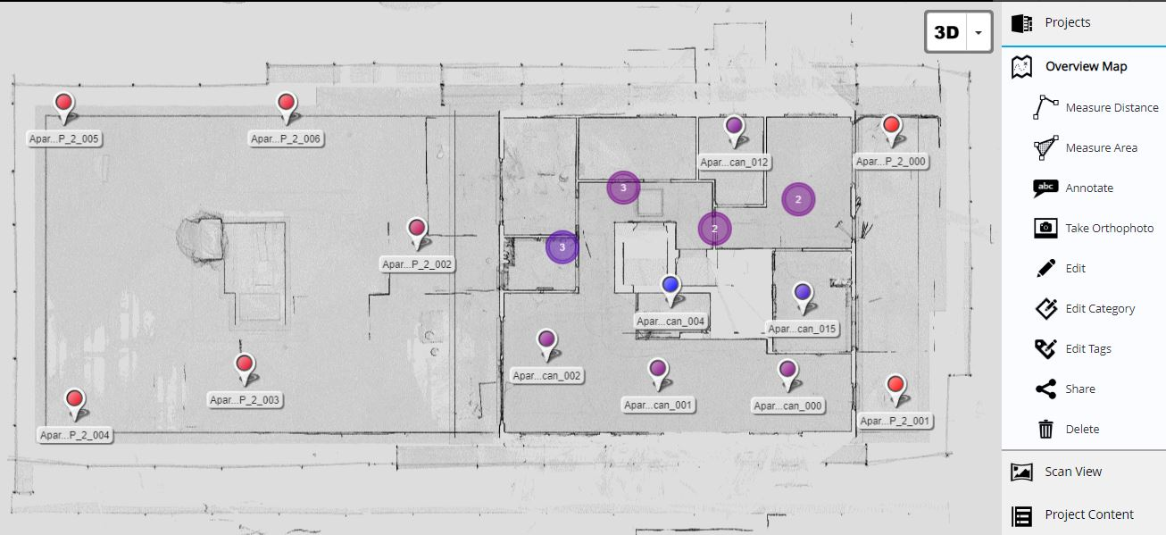 Übersichtkarte der Räumlichkeiten