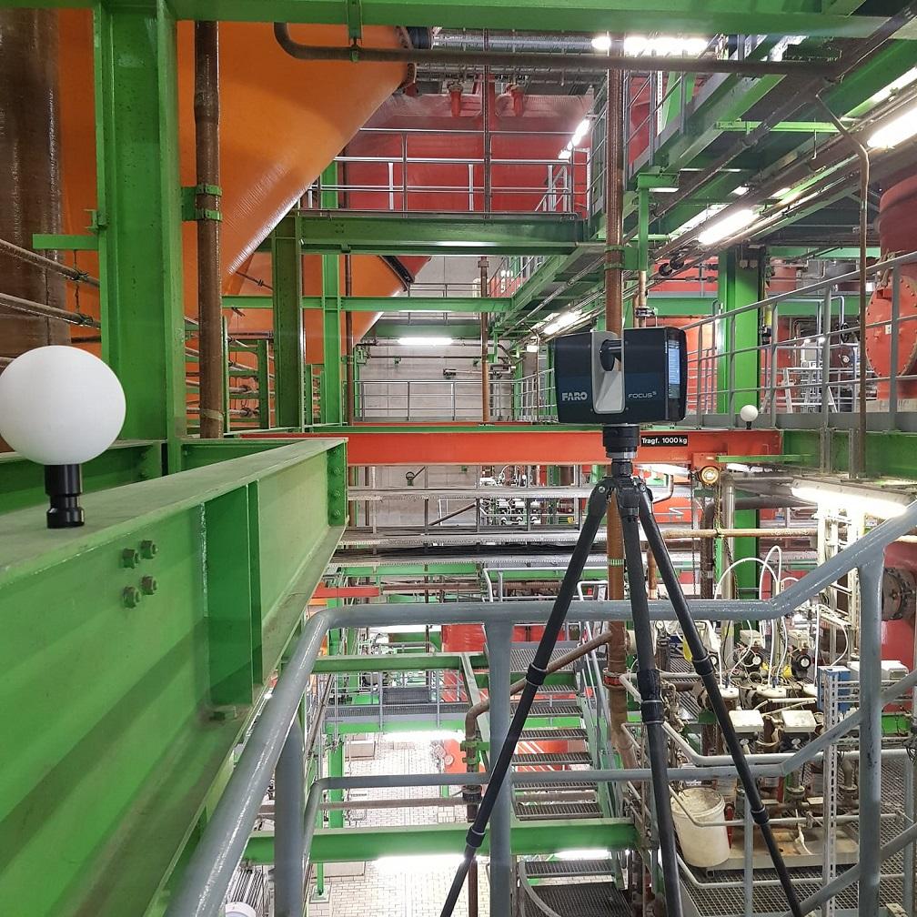 Digitales 3D-Aufmaß für den Anlagenbau